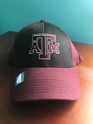 new product 539c7 1be0a Texas A M Aggies Hat College NCAA Black Maroon Baseball Cap