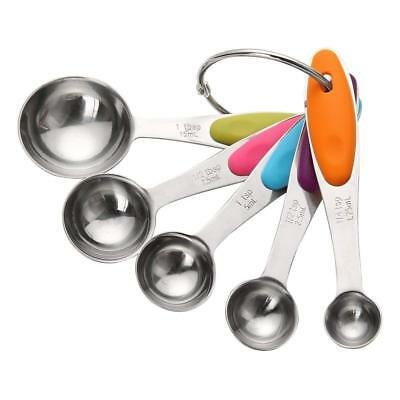5 pcs Kitchen Stainless Steel Measuring Spoons  Table / Tea spoons