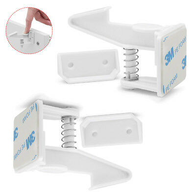 2Pcs Cabinet Locks Child Safety Latches Baby Proofing Drawers Latch Invisible