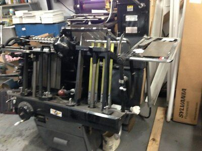 Heidelberg Windmill Press With Hot Foil Stamping.