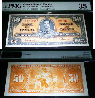 PMG 35 - CHOICE VERY FINE - 1937 $50 Bank of Canada