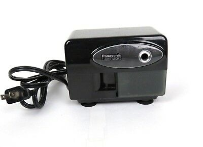 Panasonic KP-310 Electric Pencil Sharpener Black Auto Stop Suction Mount