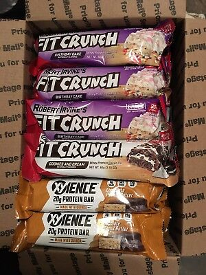 30 XYIENCE PROTEIN FIT CRUNCH BAR ASSORTED MIX VARIETY BIRTHDAY CAKE Cookies N C