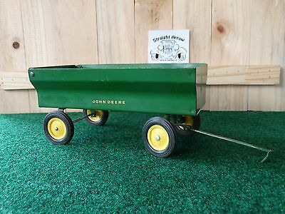 Vintage Eska John Deere Flarebox Wagon 1:16 Scale Diecast Toy Great Shape
