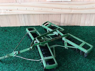 Vintage Eska John Deere Disc Harrow 1:16 Scale Diecast Toy Great Shape
