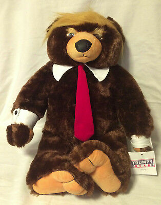 GENUINE Trumpy Bear Deluxe + Certificate Of Authenticity & American Flag Blanket