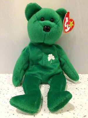 048bdc04225 Ty Beanie Babies Rare  Erin  Irish Bear- Manufacturing Errors on label