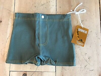 Vintage Campus Swim Trunks boys Mens Green New with tag Made In USA New with tag