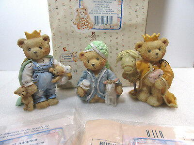 Cherished Teddies WE THREE KINGS Nativity 3 PC Set Figurines