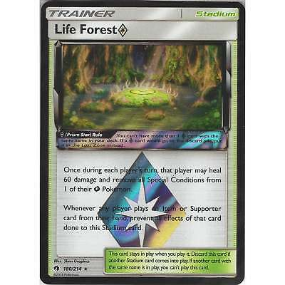 Pokemon TCG Card - Life ForestPrism Star 180/214 - Rare Holo - SM8 Lost Thunder