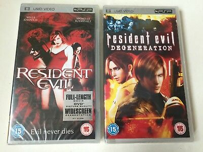 RESIDENT EVIL & RESIDENT EVIL DEGENERATION UMD Sony PSP Playstation Portable New