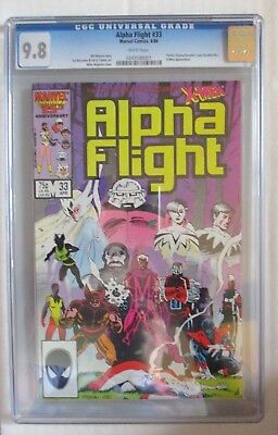 Alpha Flight #33 Cgc 9.8