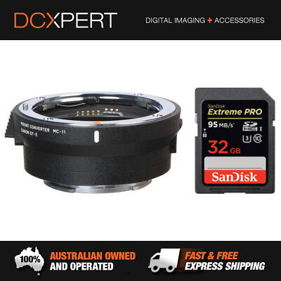 Sigma Mc-11 Lens Adapter - Canon Ef-Mount Lenses To Sony E Mount & 32Gb Sd Card