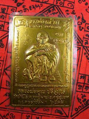 LP KOON Copper Plate Yant, yr.2537, Thai Magic Amulet For Lucky Money, Very Rare