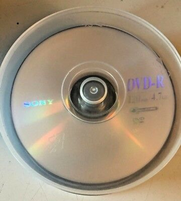 DVD-R Recordable Disks 17 x 120 minutes, 4.7GB Sony AccuCore Opened Package, NEW