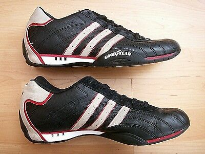 huge discount d9007 fa534 Adidas Adi Racer Low Goodyear Racing 117184 Black Leather Mens Driving Shoes  9.5