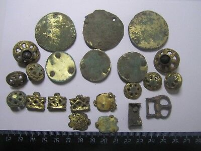 Ancient belt set GOLDEN HORDE 100% original Gold plating  Metal detector finds