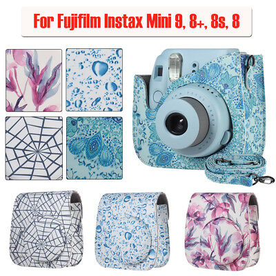 For Fujifilm Instax Mini 9/8+/8S Camera Pu Leather Carrying Bag Case Cover F7Q8