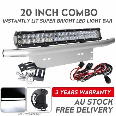 Offroad 20inch CREE LED Light Bar+23'' Number Plate Frame Mount Bracket+Wiring