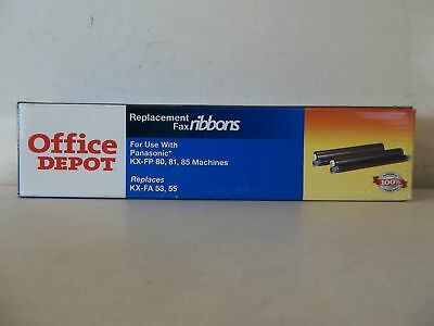 OFFICE DEPOT (2) BLACK REPLACEMENT FAX RIBBONS for SHARP UX 300,305,460 MACHINES