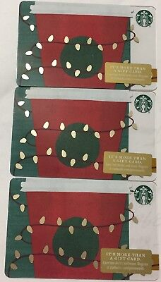 "Lot 3 Starbucks ""Coffee Cup"" 2018 Christmas 🎄 Edition gift card set NEW"