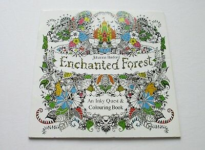 Enchanted Forest An Inky Quest & Colouring Book by Johanna Basford