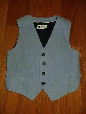 H&m Boys Vest Blue Size 4-5 Years