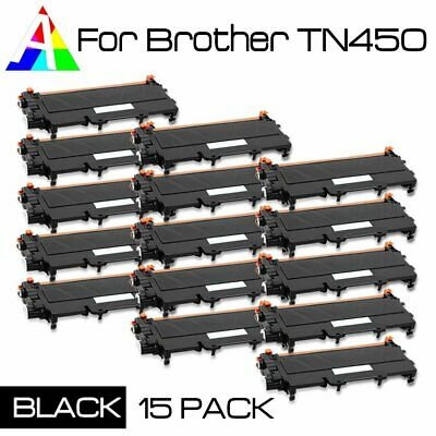 15 Pack TN450 Toner Cartridge fits Brother MFC-7360N MFC-7460DN MFC-7860DW