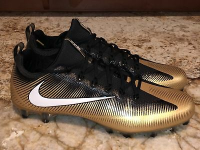 NIKE Vapor Untouchable Pro TD Metallic Gold Black White Football Cleats Mens 15