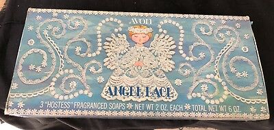 Vintage Avon Hostess Soaps In Original Box - Never Used Angel Lace