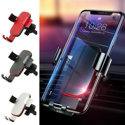 360 Universal Aluminum Car Phone Holder Air Vent Mount For iPhone Samsung GPS US