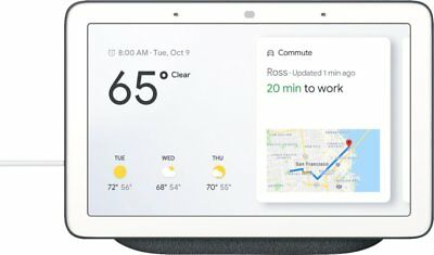 Google Home Hub with Google Assistant - Chalk Gray or Charcoal Black NEW SEALED