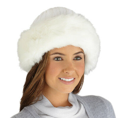 Faux Fur Trimmed Winter Fashion Hat, by Collections Etc