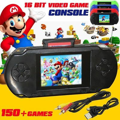 """2019 Handheld Game Console PXP3 Portable 2.8"""" 150 Free Retro Games 16 Bit TV OUT"""