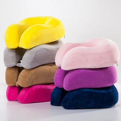 Memory Foam U Shaped Travel Pillow Neck Support Head Rest Airplane Cushion ZY