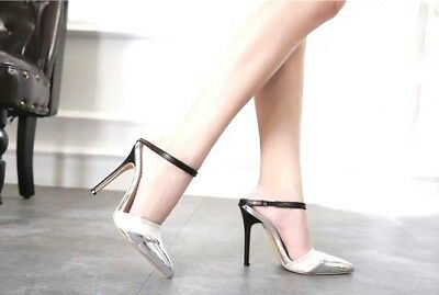Women Bling Bling PU Buckle Strap Pumps Design Sexy Dress Super High Heels Party