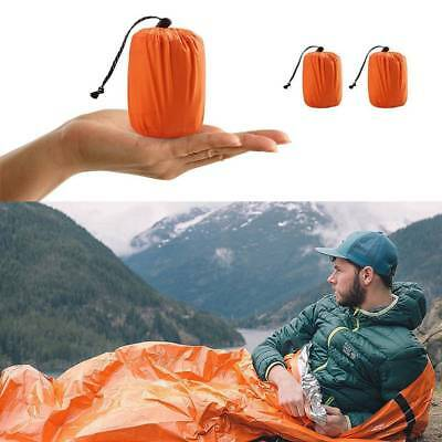 Reusable Emergency Sleeping Bag Thermal Survival Camping Travel Bag Waterproof j