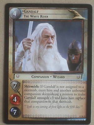 Lord of the Rings CCG Black Rider 12R27 Gandalf: The White Rider. Decipher