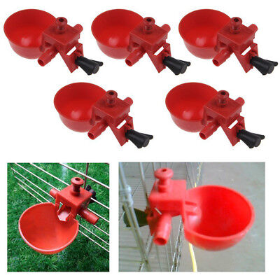 Poultry Auto Automatic Quail Water Drinker Drink Cup Bird Coop Chick Feed Cup JA