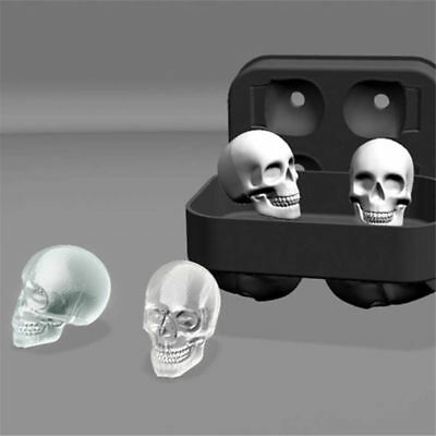 Silicone 3D Ice Ball Cube Tray Skull Shape Mold Christmas Skull Ice Mold AU