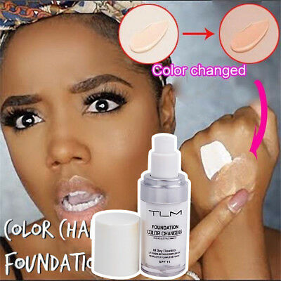 New Colour Changing Foundation Makeup Base Nude Face Liquid Cover Concealer
