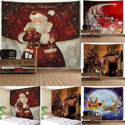 Christmas Theme Tapestry Xmas Holiday Wall Hanging Tapestry Home Wall Decoration