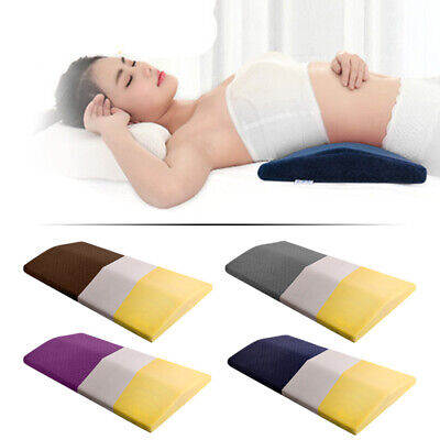 Lumbar Support Wedge Pillow Memory Foam Sleep Bed Cushion Lower Back Pain Relief