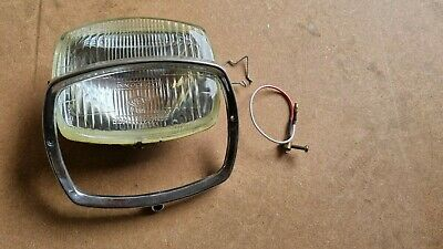 Lambretta Gp Headlight Complete With Rim Holder Glass Reflector Halogen Italian