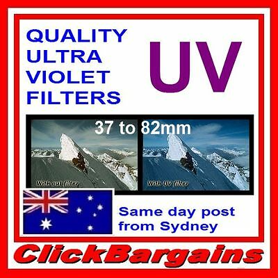ULTRA VIOLET UV FILTERS CAMERA LENS FILTER PROTECTOR for CANON NIKON SONY etc