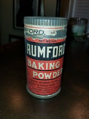 Vintage Early Rumford Baking Powder Tin Empty Paper Label