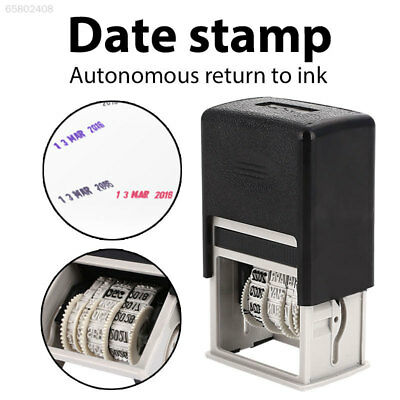 Office Date Stamps Roller Stamping Mud Set DIY Handle Account English Stamps