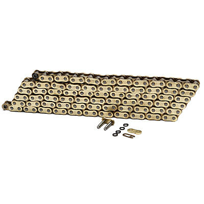 Choho Heavy Duty Gold/Gold O-Ring Motorcycle Drive Chain 428 x 112 With Link