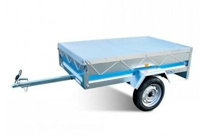 """Trailer COVER 5ft x 3ft - 5x3 ft in Grey with Elastic Cord - 3"""" drop"""