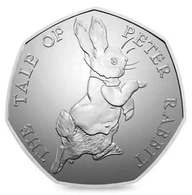 2017 THE TALE OF PETER RABBIT 50p COIN UNCIRCULATED RARE BEATRIX POTTER